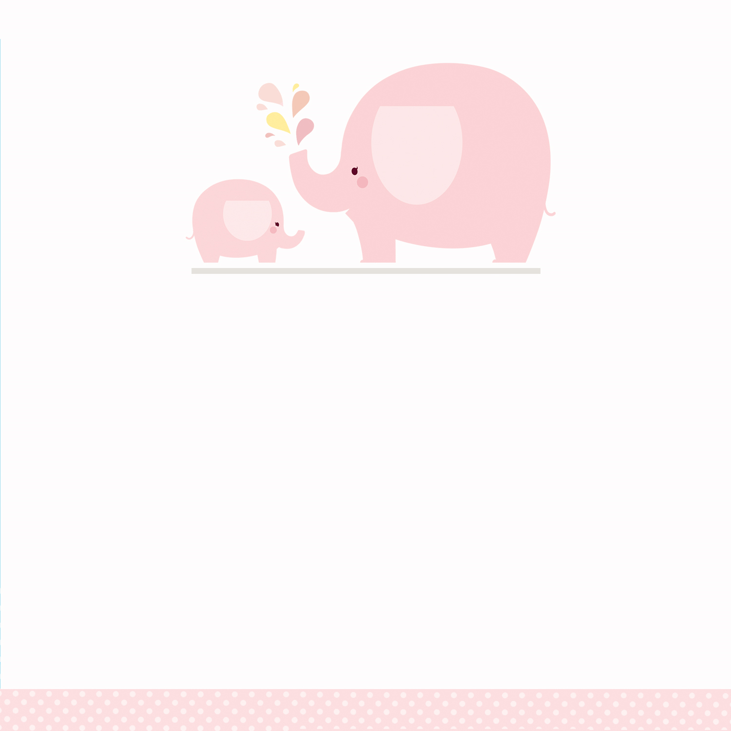 Pink Baby Elephant - Baby Shower Invitation Template (Free For Blank Elephant Template