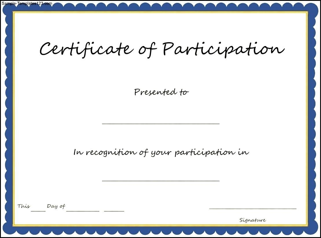 Pinmahammad Muradov On Download | Certificate Of In Certificate Of Participation Template Pdf