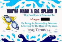 Pinmarwa Mattar On Swimming   Swimming Lessons For Kids throughout Free Swimming Certificate Templates