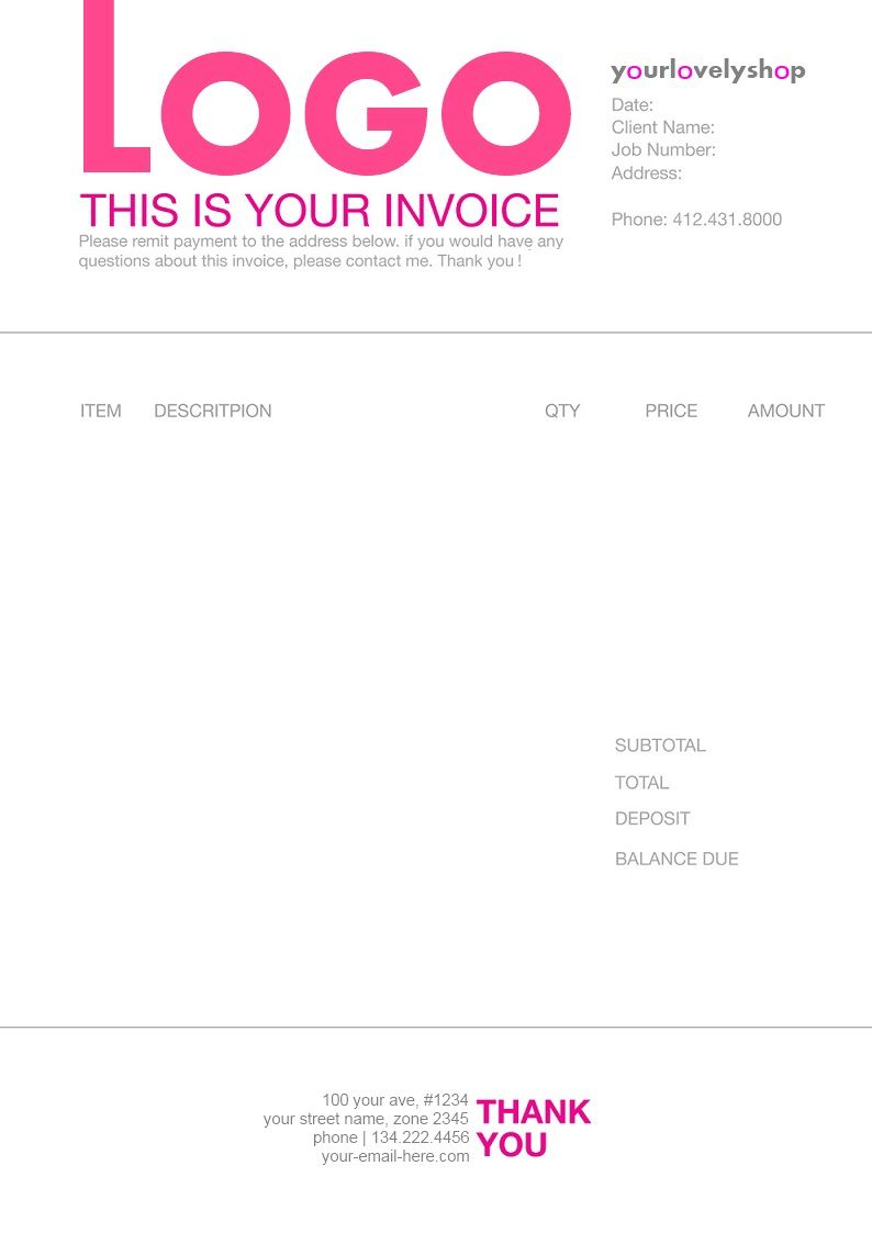 Pinmatthieu Smith On Invoices | Invoice Design Template Throughout Web Design Invoice Template Word