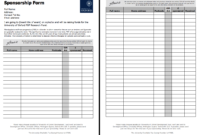 Pinririn Nazza On Free Resume Sample | Free Resume intended for Blank Sponsorship Form Template