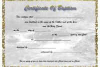 Pinselena Bing-Perry On Certificates | Certificate for Baptism Certificate Template Download