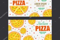 Pizza Flyer Vector Template. Two Pizza Banners. Gift Voucher regarding Pizza Gift Certificate Template