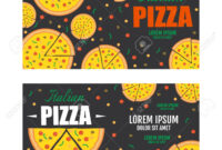Pizza Flyer Vector Template. Two Pizza Banners. Gift Voucher with regard to Pizza Gift Certificate Template