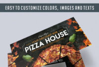 Pizza House – Free Gift Certificate Psd Template in Pizza Gift Certificate Template