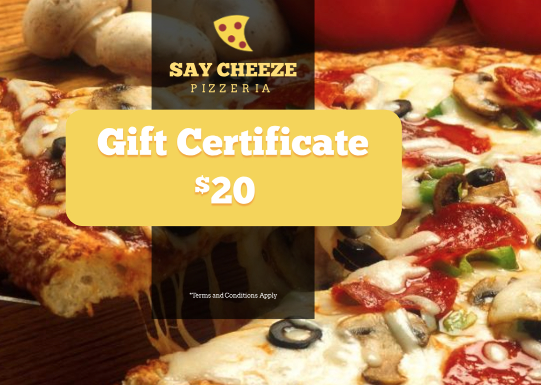Pizzeria Restaurant Gift Certificate Template | Free Within Pizza Gift Certificate Template