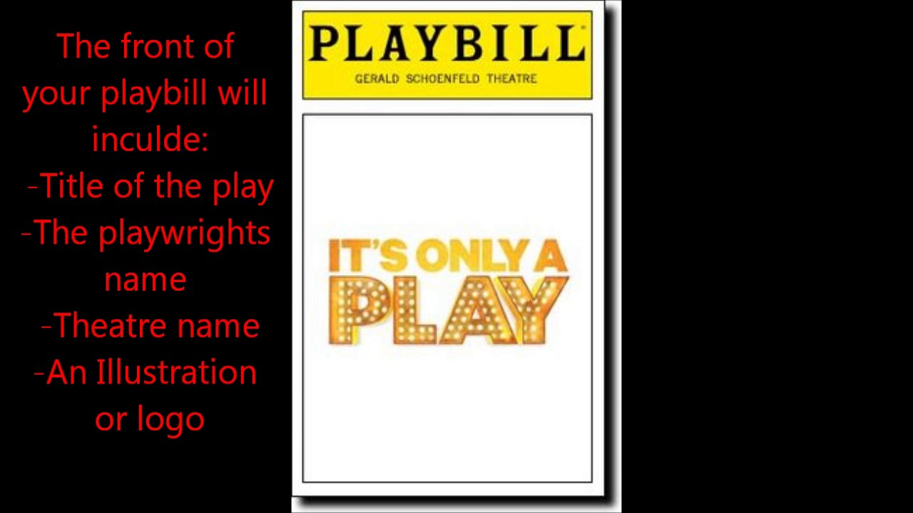 Playbill Project Pertaining To Playbill Template Word