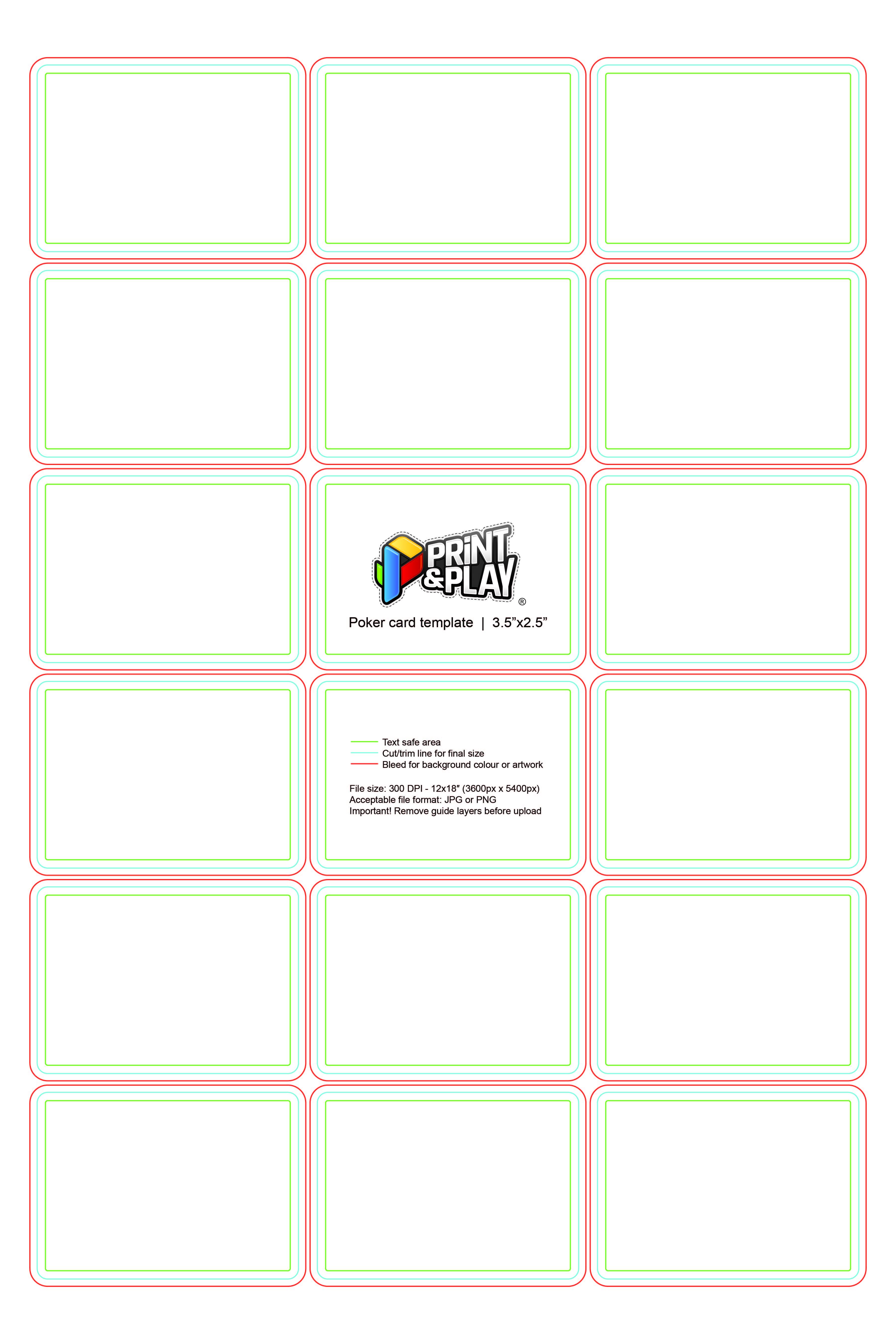 Playing Cards : Formatting & Templates – Print & Play Regarding Card Game Template Maker