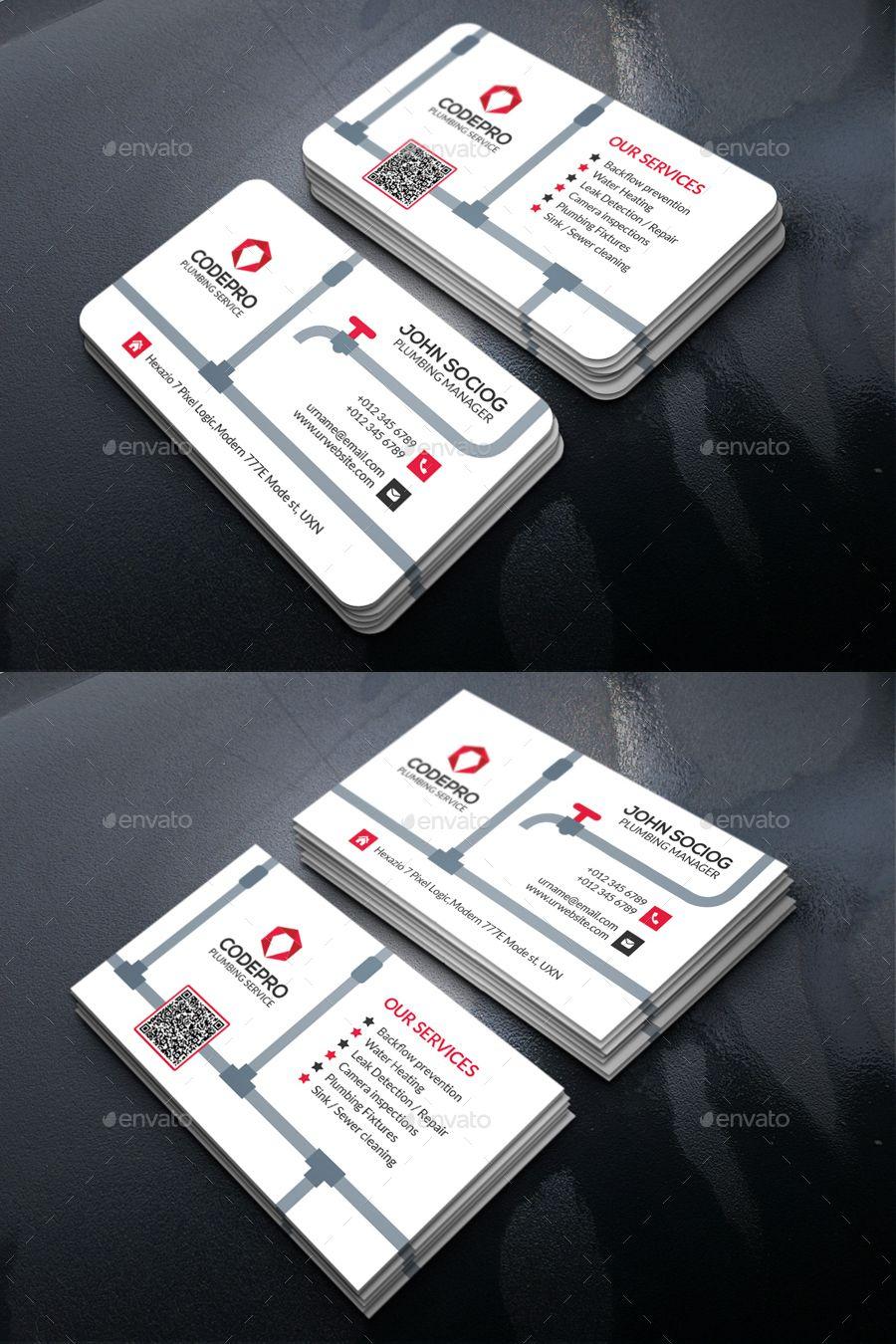 Plumbing Business Card Template Psd | Business Cards With Business Card Maker Template