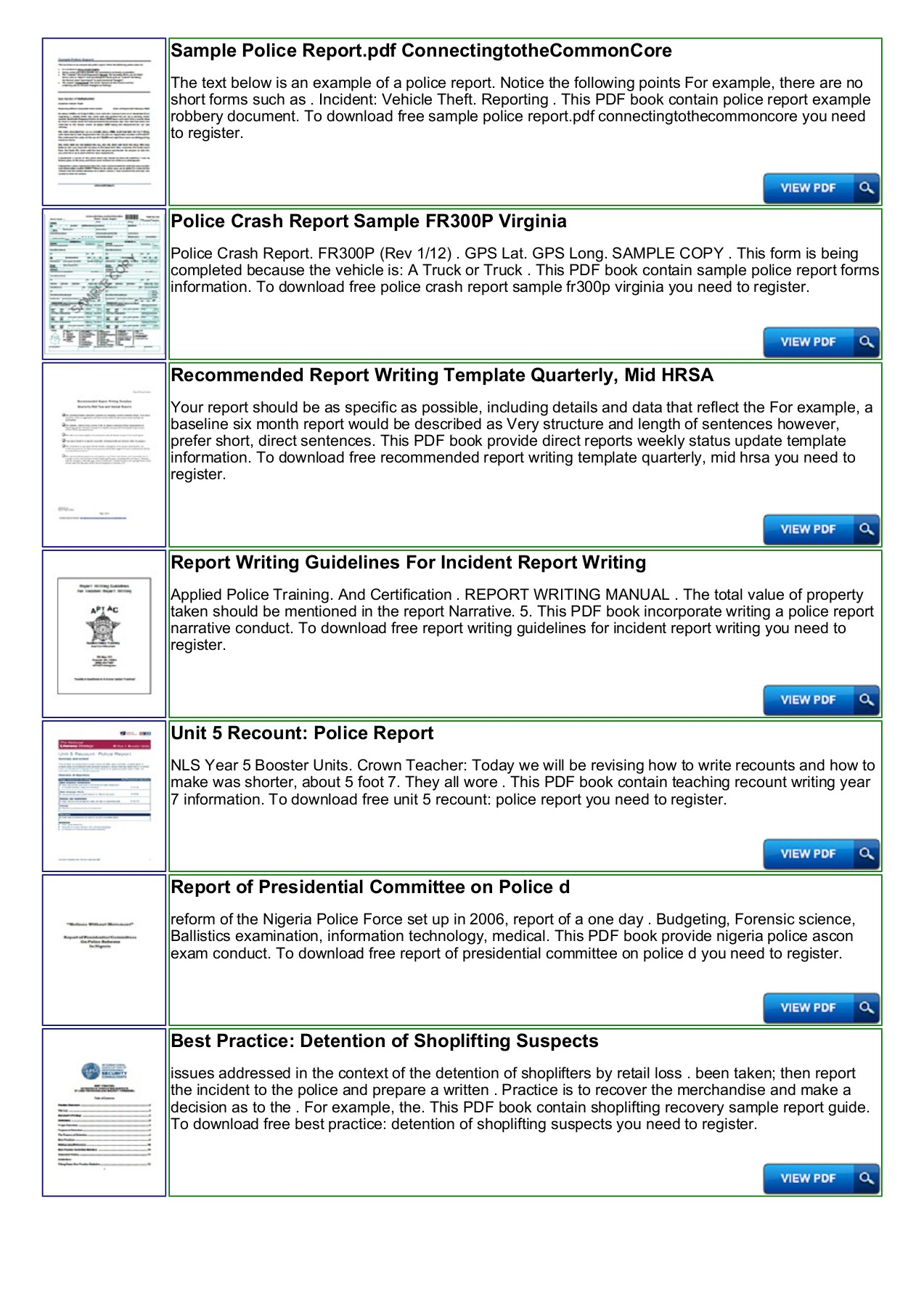 Police Shoplifting Report Writing Template Sample Pages 1 For Report Writing Template Download