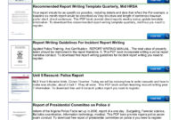 Police Shoplifting Report Writing Template Sample Pages 1 in Incident Report Register Template