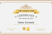 Polished Design Certificate For Powerpoint | Certificate within Award Certificate Template Powerpoint