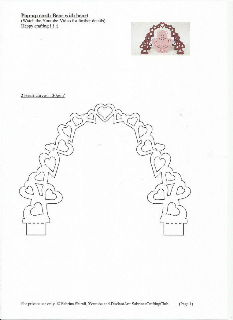 Pop Up Card Bear: Page 1Sabrinascraftingclub On Inside Wedding Pop Up Card Template Free