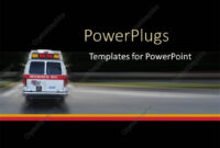 Powerpoint Template: Ambulance Going To Hospital For inside Ambulance Powerpoint Template