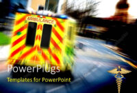 Powerpoint Template: An Ambulance On The Road With Blurred with regard to Ambulance Powerpoint Template