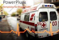 Powerpoint Template: An Ambulance With A Heartbeat Line And throughout Ambulance Powerpoint Template