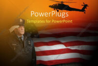 Powerpoint Template: An American Soldier Saluting With inside Raf Powerpoint Template