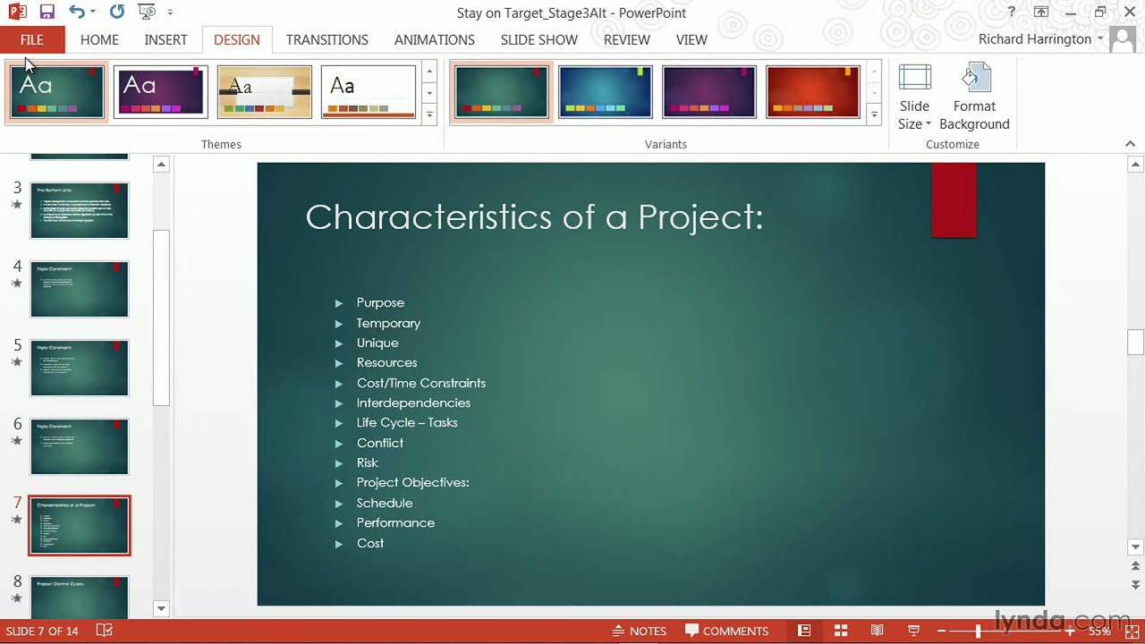 Powerpoint Tutorial: How To Change Templates And Themes | Lynda For How To Change Powerpoint Template