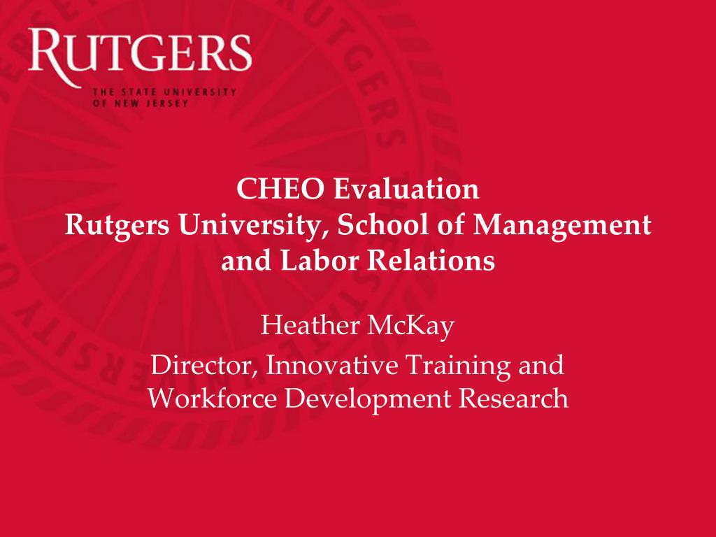 Ppt - Cheo Evaluation Rutgers University, School Of For Rutgers Powerpoint Template