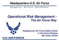 Ppt – Operational Risk Management – The Air Force Way in Air Force Powerpoint Template