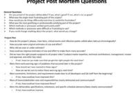 Ppt – Project Post Mortem Questions Powerpoint Presentation intended for Post Mortem Template Powerpoint