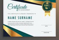 Premium Modern Certificate Template Design pertaining to Design A Certificate Template