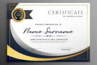 Premium Wavy Certificate Template Design | Certificate within Award Certificate Design Template