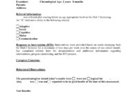 Preschool Evaluation Report Template intended for Deviation Report Template