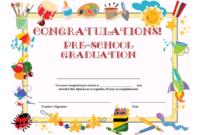 Preschool Graduation Certificate Template Free throughout Free School Certificate Templates