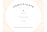 Pretty Fluffy Inside Blank Adoption Certificate Template for Blank Adoption Certificate Template