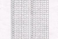 Printable 100 Bubble Answer Sheet | Answer Sheet Template 1 for Blank Answer Sheet Template 1 100