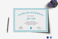 Printable Adoption Certificate Template inside Blank Adoption Certificate Template