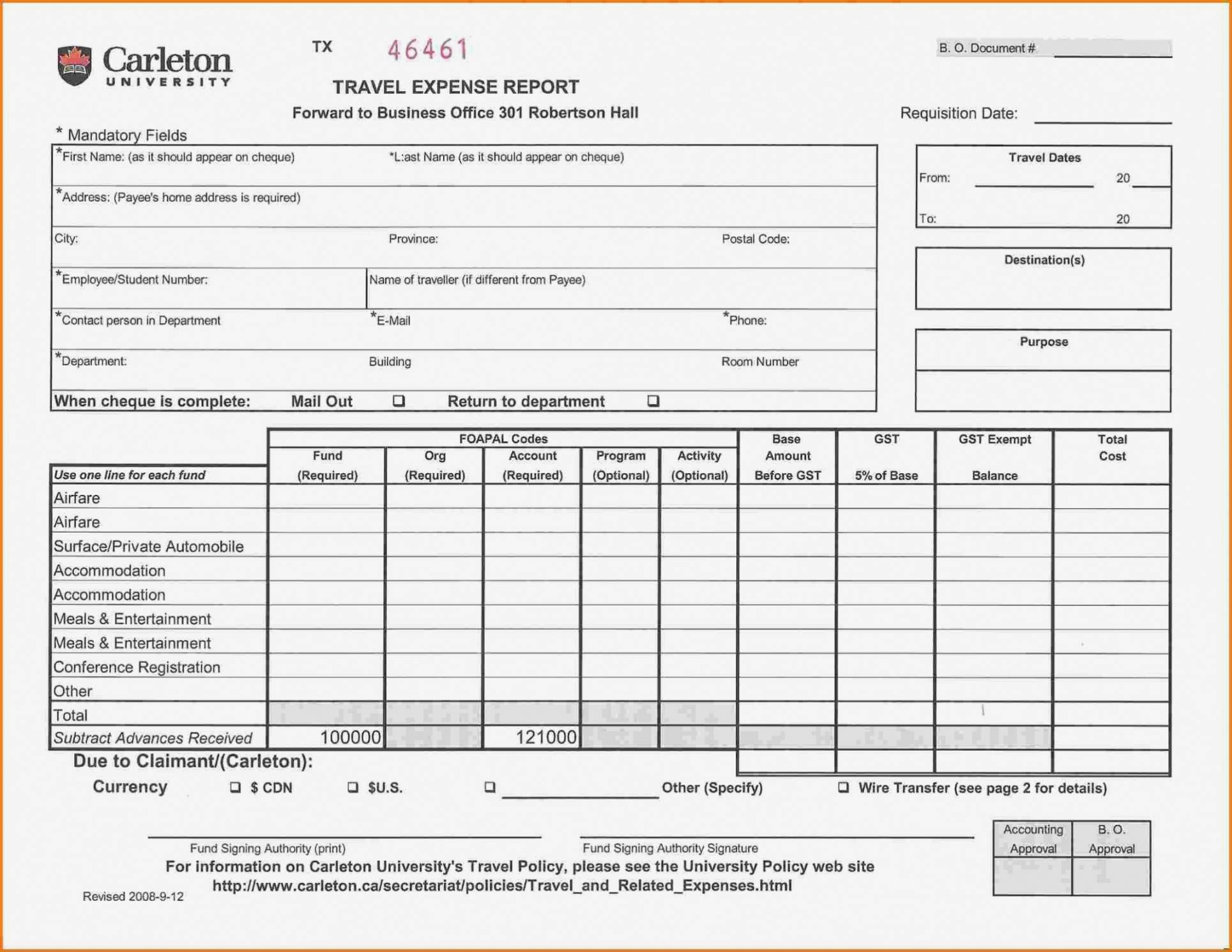 Printable Air Balance Report Form Mersnproforum Form For Air Balance Report Template