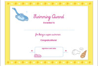 Printable Award Certificates – Bluedotsheet.co for Free Swimming Certificate Templates