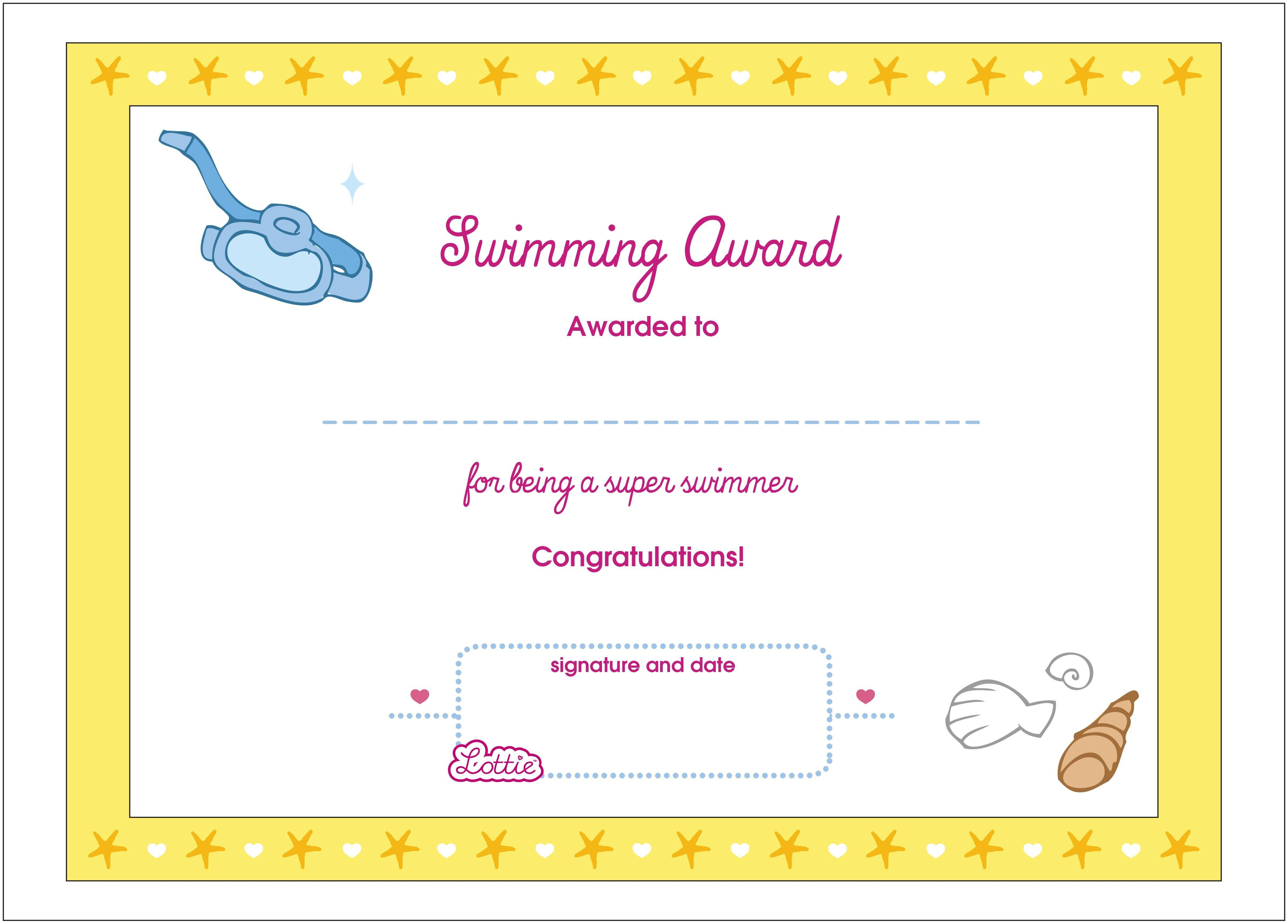 Printable Award Certificates – Bluedotsheet.co Intended For Swimming Certificate Templates Free
