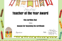 Printable Award Certificates – Bluedotsheet.co Within Best Teacher Certificate Templates Free