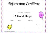 Printable Award Certificates For Teachers   Good Helper inside Student Of The Year Award Certificate Templates