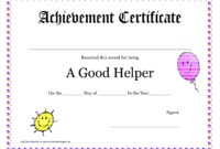 Printable Award Certificates For Teachers | Good Helper pertaining to 5Th Grade Graduation Certificate Template