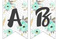 Printable Banner Letters Letter Format Blue Gold Floral in Printable Letter Templates For Banners