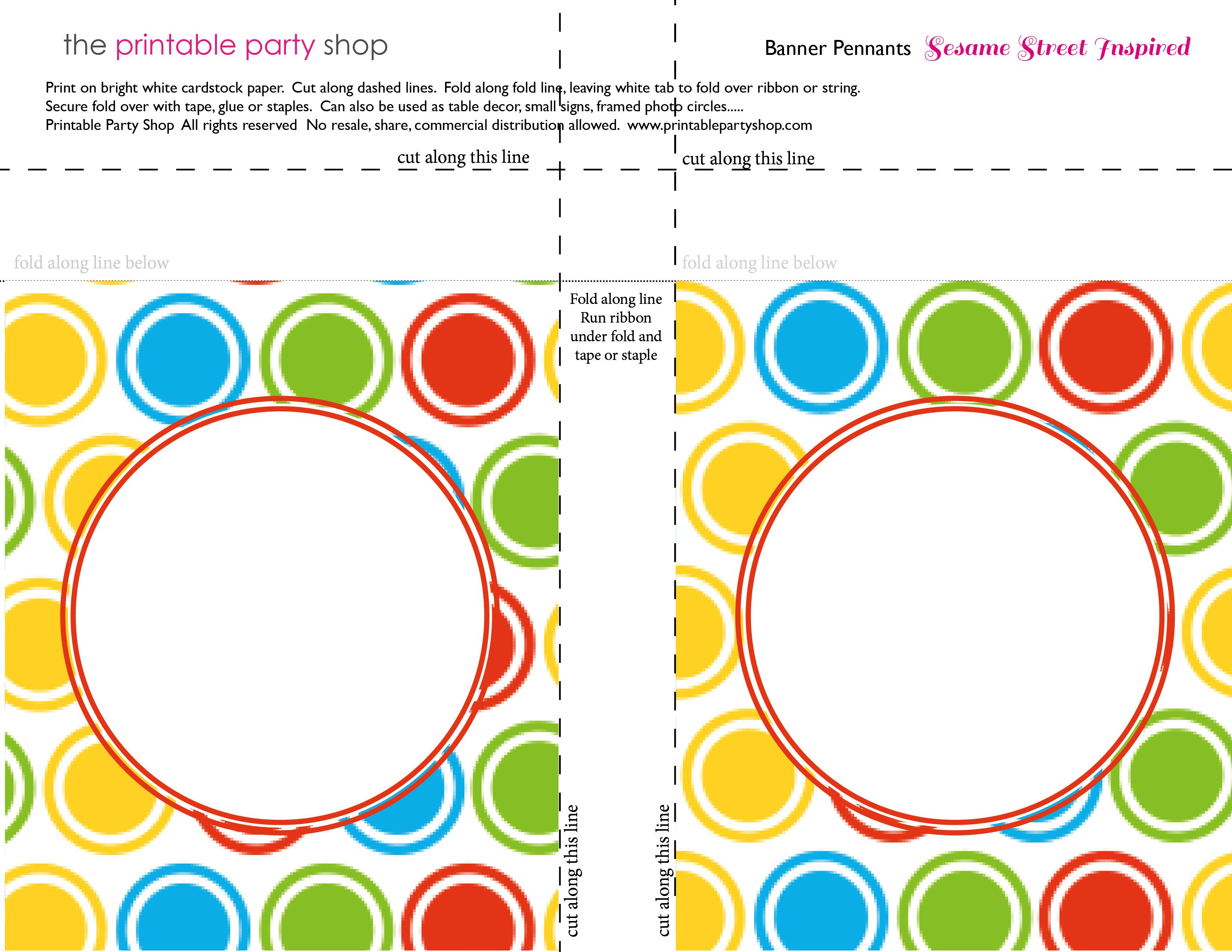Printable Banners Templates Free | Banner Squares Big Dots Throughout Sesame Street Banner Template