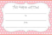 Printable Blank Coupons Template | <3 | Free Coupon Template with Blank Coupon Template Printable