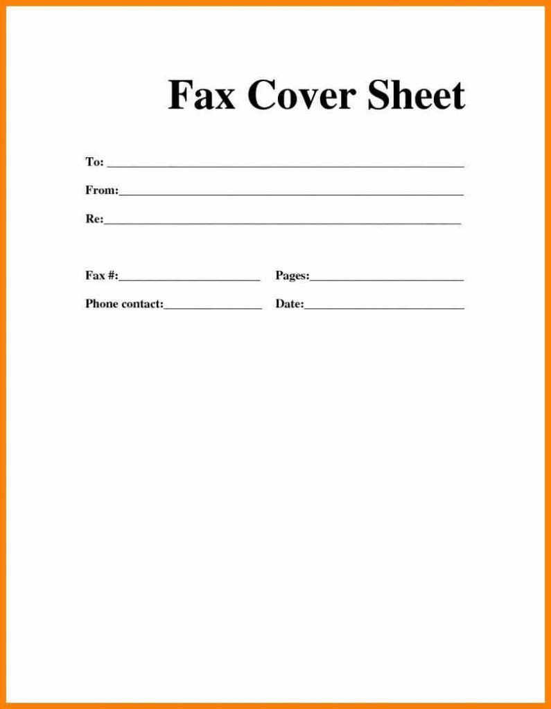 Printable Blank Microsoft Word Fax Cover Sheet | Fax Cover Regarding Fax Cover Sheet Template Word 2010