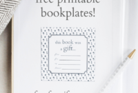 Printable Bookplates For Donated Books | Book Gifts, Book with regard to Bookplate Templates For Word