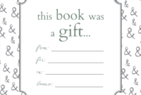 Printable Bookplates For Donated Books | Labels For Book intended for Bookplate Templates For Word