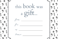 Printable Bookplates For Donated Books | Printables throughout Bookplate Templates For Word