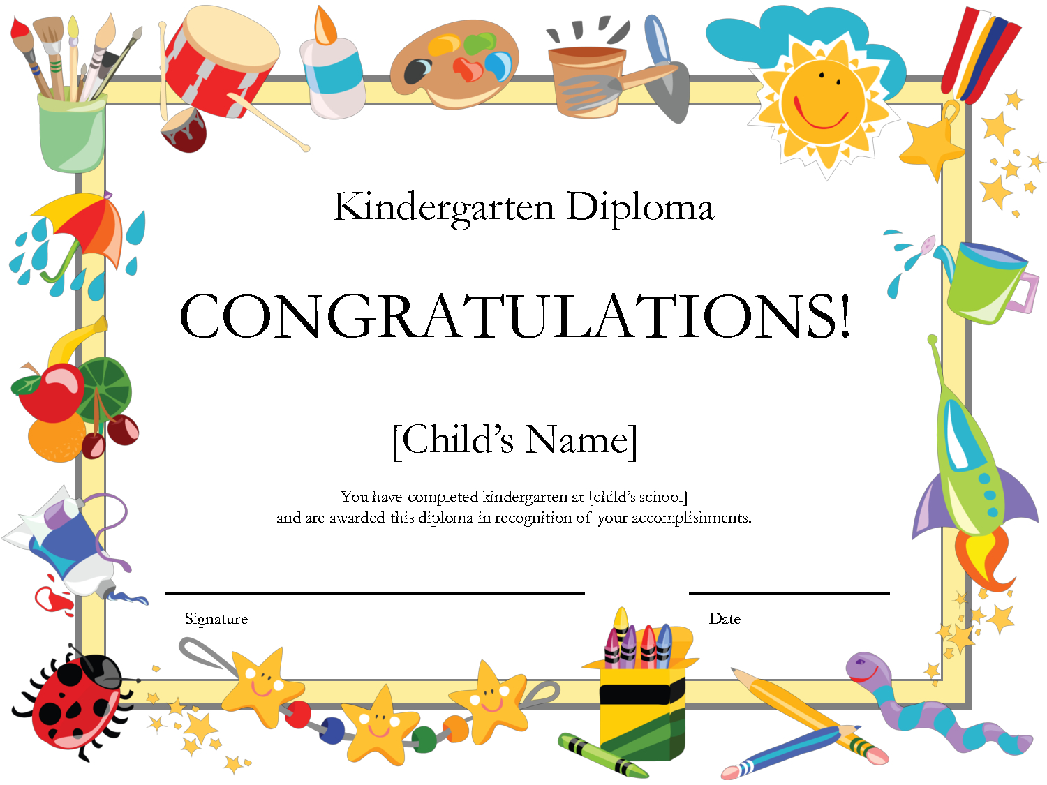 Printable Certificates | Printable Certificates Diplomas With Regard To School Certificate Templates Free