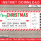 Printable Christmas Gift Concert Ticket Template | Gift Within Movie Gift Certificate Template
