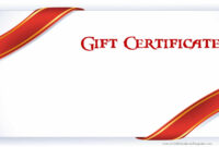 Printable Gift Certificate Templates within Dinner Certificate Template Free