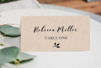 Printable Place Cards, Place Card Template, Editable Place regarding Ms Word Place Card Template