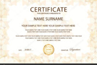 Printable Ribbon For Recognition | Certificate Template Gold throughout Award Of Excellence Certificate Template